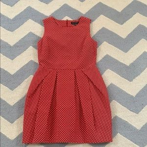 Pink Tartan Red Polka Dot Dress